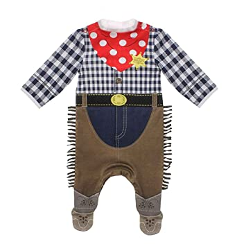 Moozels Cowboy Fancy Dress Costume Easy Clean Cotton Babygrow Aged