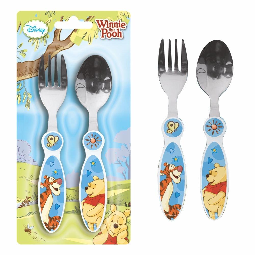 Gabel und L/öffel f/ür Kinder Disney Winnie Puuh POS Handels GmbH Besteck-Set 2-teilig