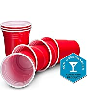 Ruby Apple Red American Party Cups - 16oz (455ml) - Disposable Party Cups - Packs of 50