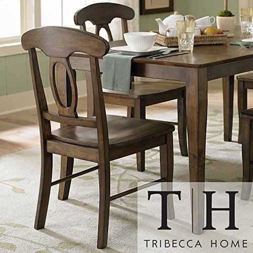 Metro Side Chair 2 Chairs - Metro Shop TRIBECCA HOME Barnet Walnut Napoleon Casual Side Chair (Set of 2)