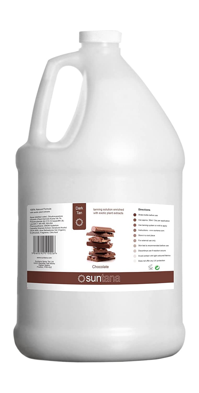 128oz Dark Spray Tan Solution - Chocolate Fragrance 12% DHA Premium Sunless Solution