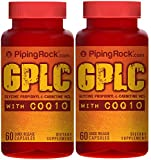 Piping Rock GPLC GlycoCarn Propionyl-L-Carnitine HCl with CoQ10 2 Bottles x 60 Quick Release Capsules Dietary Supplement