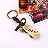 VCOROS Handcraft Leather Keychain for Car
