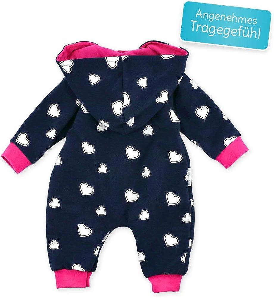 Baby Sweets Baby Overall Jumpsuit mit Kapuze f/ür M/ädchen und Jungen in Grau Blau bis Kleinkinder-Gr/ö/ßen Pink//Babystrampler als Overall f/ür Babies und Kinder f/ür Outdoor und Indoor in Neugeborenen