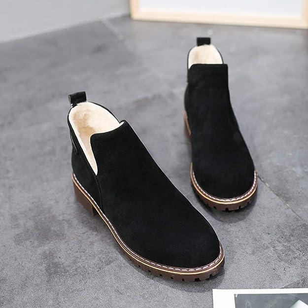 Beladla Botas Mujer Navidad Boot De Gamuza Zapatos De OtoñO E Invierno Botines Botas De Zapatos: Amazon.es: Zapatos y complementos