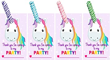 Amazon.com: Tarjetas de cumpleaños de unicornio y caramelos ...