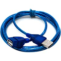 1M/1.5M/2M/3M Super Long USB 2.0 Male To Female Extension Cable High Speed USB Extension Data Transfer Sync Cable(Color:blue)(Size:1M)