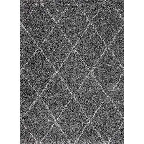 nuLOOM Trellis Cozy Soft Plush Shag Rug, 5 3 x 7 6 , Grey