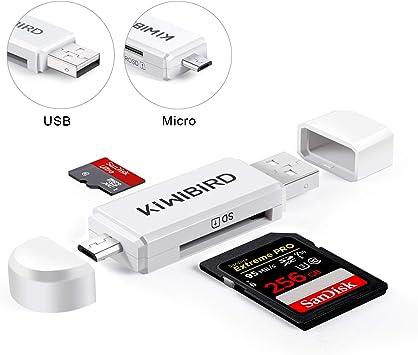 KiWiBiRD Micro USB Adaptador USB 2.0 OTG, Micro USB & USB 2.0 SD/Lectores de Tarjetas Micro SD para Smartphones Android/Tablet con Función OTG, PC, MacBook y Smart TV: Amazon.es: Electrónica