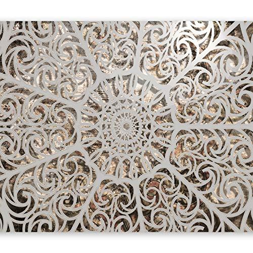 murando Fotomurales 350x256 cm XXL Papel pintado tejido no tejido Decoracion de Pared decorativos Murales moderna Diseno Fotografico Mandala Oriente Abstraccion 3D f-a-0583-a-a