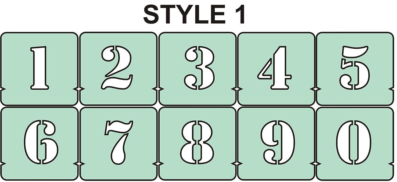 50 mm Anzahl Schablonen Ziffern Schablone Set 40,50,75,100,125,150/mm