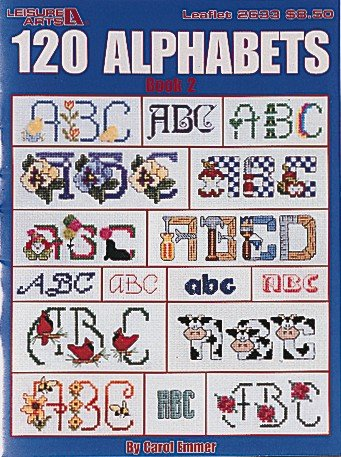 (120 Alphabets - Cross Stitch Pattern Book )