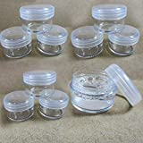 6 gram container - 10 Clear Cosmetic Plastic Sample Makeup Face Cream Container Jar Empty Small 6 G