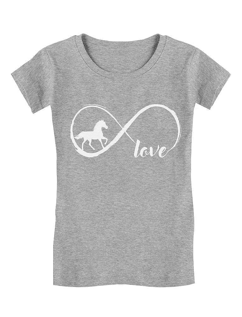 Tstars Gift for Horse Lover Infinite Love Girls Fitted Kids T-Shirt