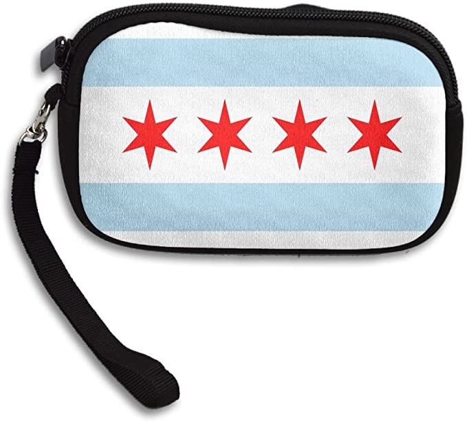 Womens Flag Of Chicago Buckle Coin Purses Mini Size Wallet