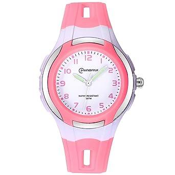 Amazon.com: Reloj analógico para niños y niñas, resistente ...