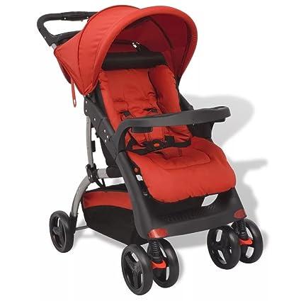 vidaXL Sillita de Paseo de Bebé Plegable Roja Cochecito Silla Carrito Niños