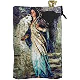 Blessed Virgin Mary Madonna Icon Cloth Pouch Tapestry Prayer Keepsake Holder Case