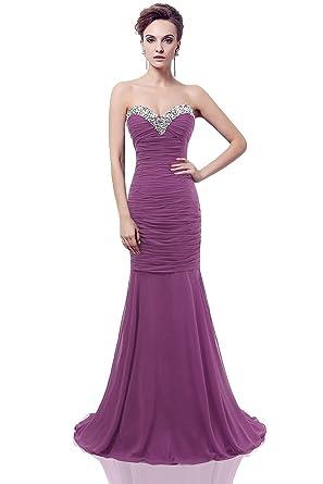 756a75a3035a Amazon.com  Medon s Women s Mermaid Long Chiffon Prom Evening Party ...
