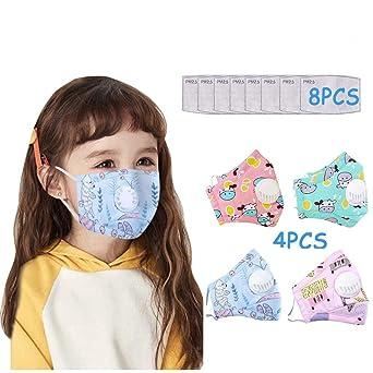 Imagen deMrTom Lavables y Reutilizable de Tela Para 4-10 años niño niña - con Válvula y Filtro de Algodón (A/4PC+8PCFiltro)