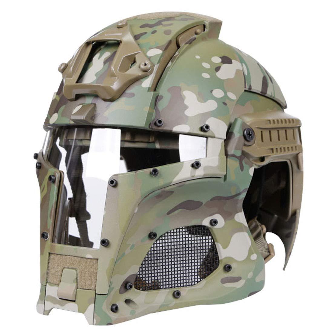 DXX WST Paintball Helm Airsoft Helm Taktische Helm F/ür Airsoft Paintball Kopfumfang:54-64cm