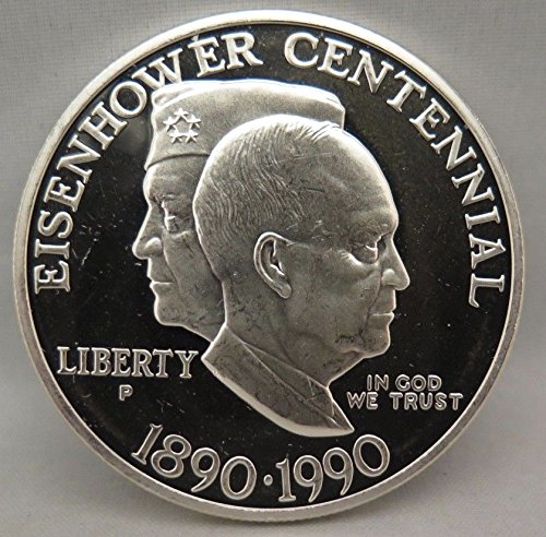 1990 P US Mint EISENHOWER COMMEMORATIVE PROOF SILVER DOLLAR $1 DCAM US Mint
