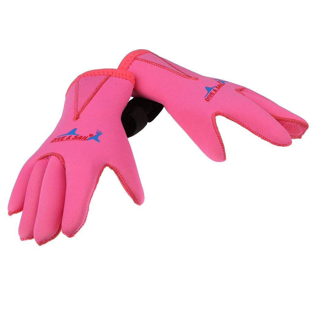 愛用 MagiDeal 3 3 – ピンク mmネオプレンskid-proofキッズボーイズガールズウェットスーツ手袋 – ネットサーフィン、Sup、カヤック、スキューバダイビング、シュノーケル、水泳、水スポーツ – 2色&すべてのサイズ B07337FNYP ピンク Large Large ピンク, ハッピーグッズコレクション:81c06b59 --- arianechie.dominiotemporario.com