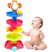 Lukas Roll Ball Toy for Kids, 5 Layer Ball Drop and Roll Swirling Tower for Baby and Toddler Development Educational Toys
