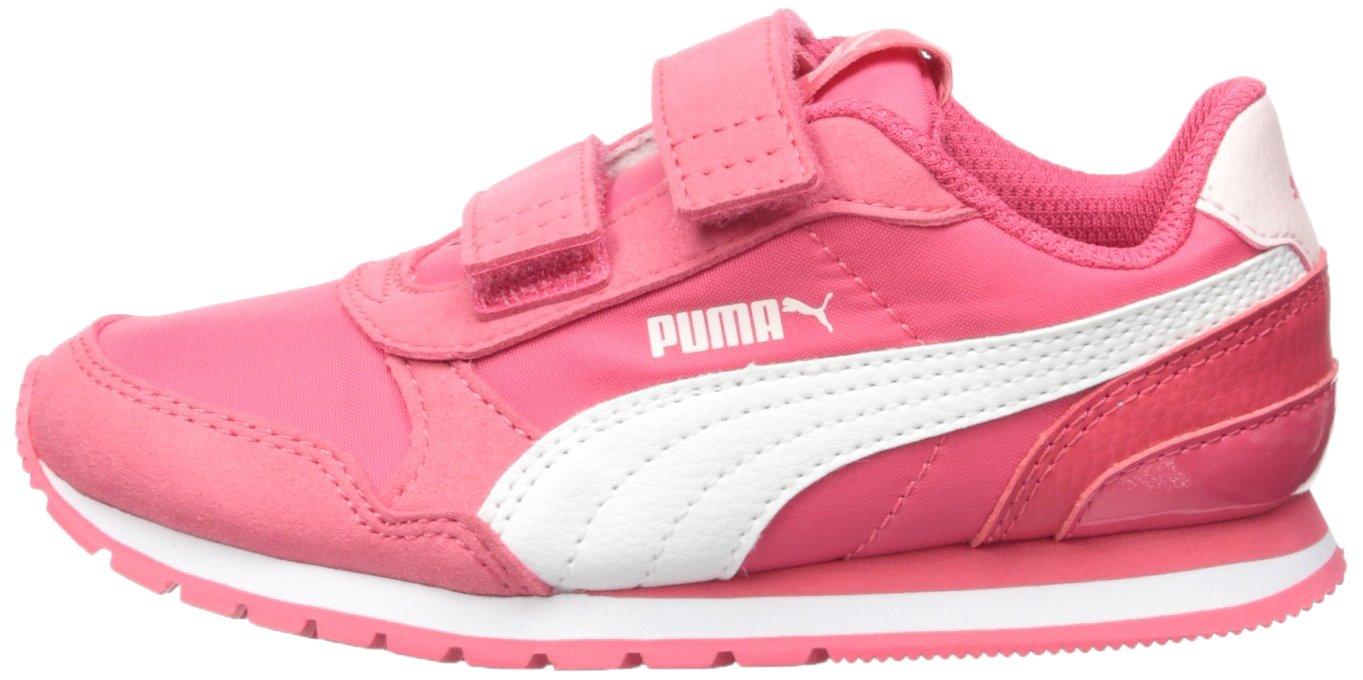 PUMA Unisex ST Runner NL Velcro Kids Sneaker Paradise Pink White, 12.5 M US Little by PUMA (Image #5)