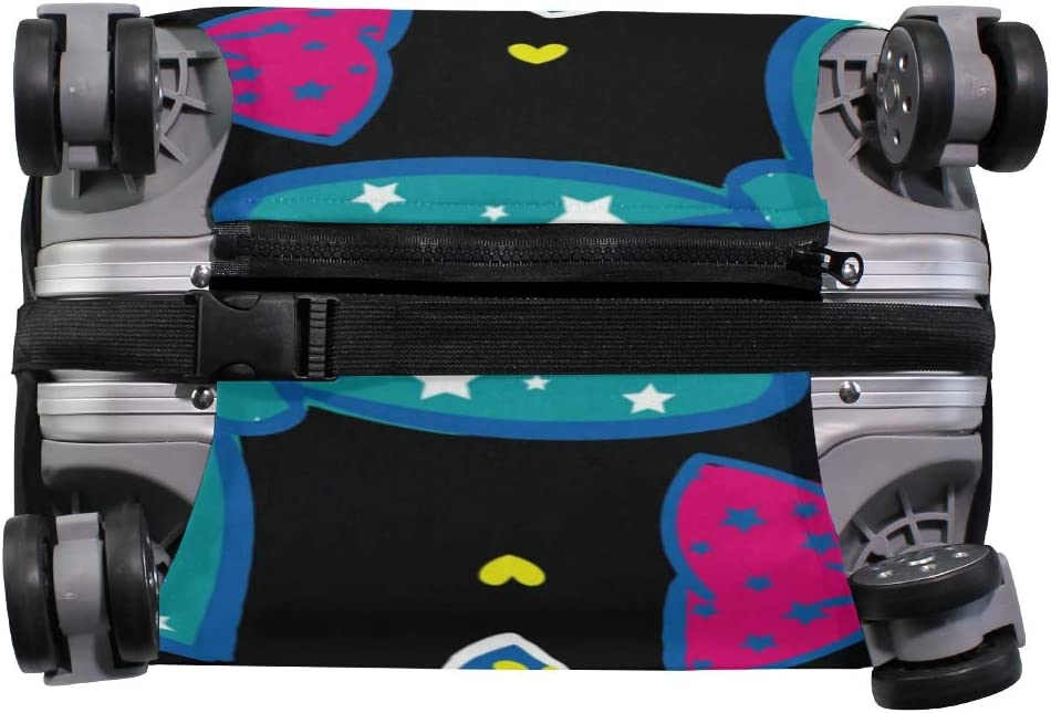 FOLPPLY Colorful Bow Pattern Luggage Cover Baggage Suitcase Travel Protector Fit for 18-32 Inch