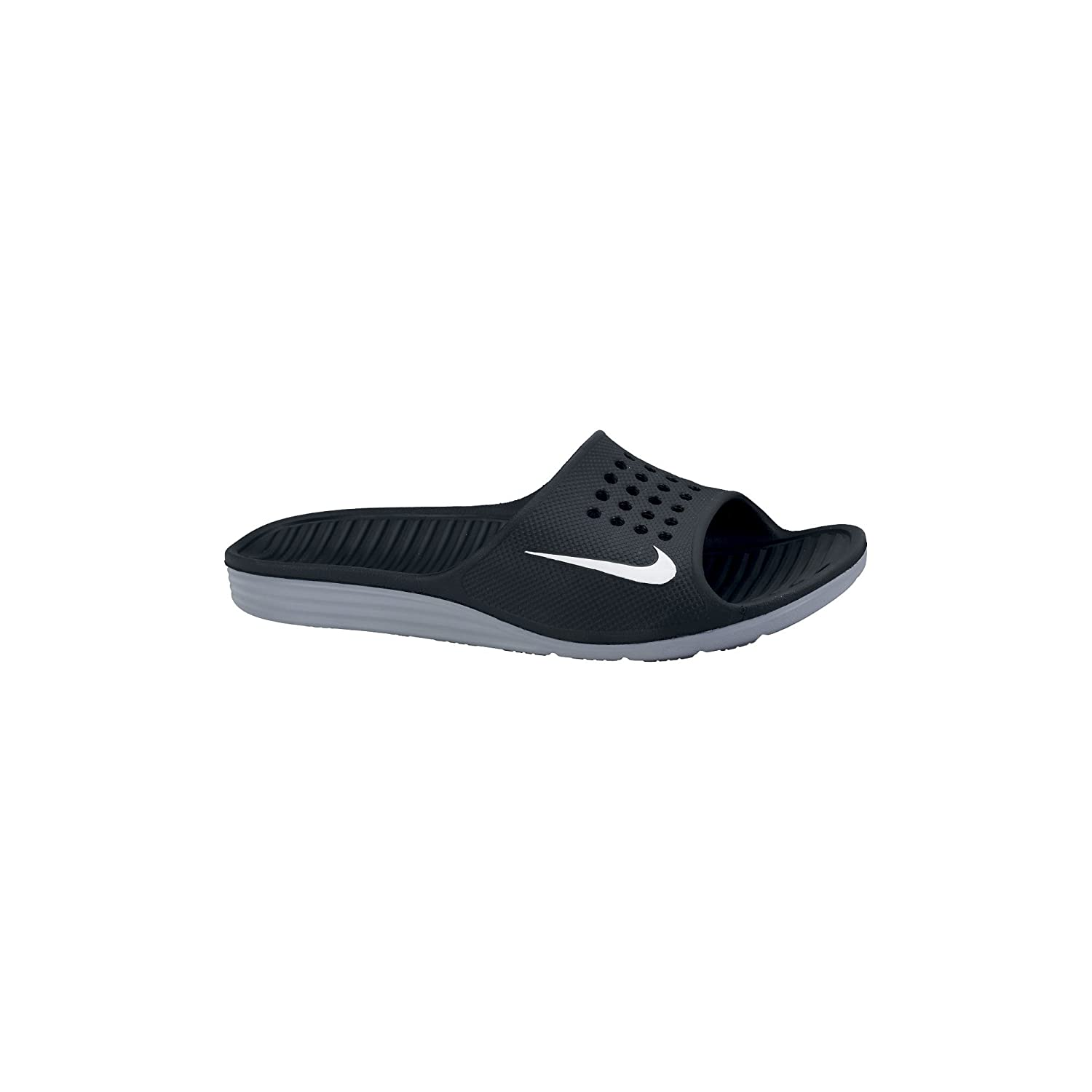 e3987add702928 Nike Men s Solarsoft Sandal Black White Size 15 M US  Buy Online at Low  Prices in India - Amazon.in