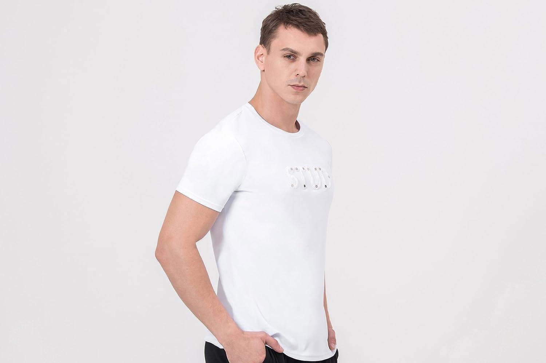 w//Nano-Sweat Transfer Technology. Palorum Stud White t-Shirt