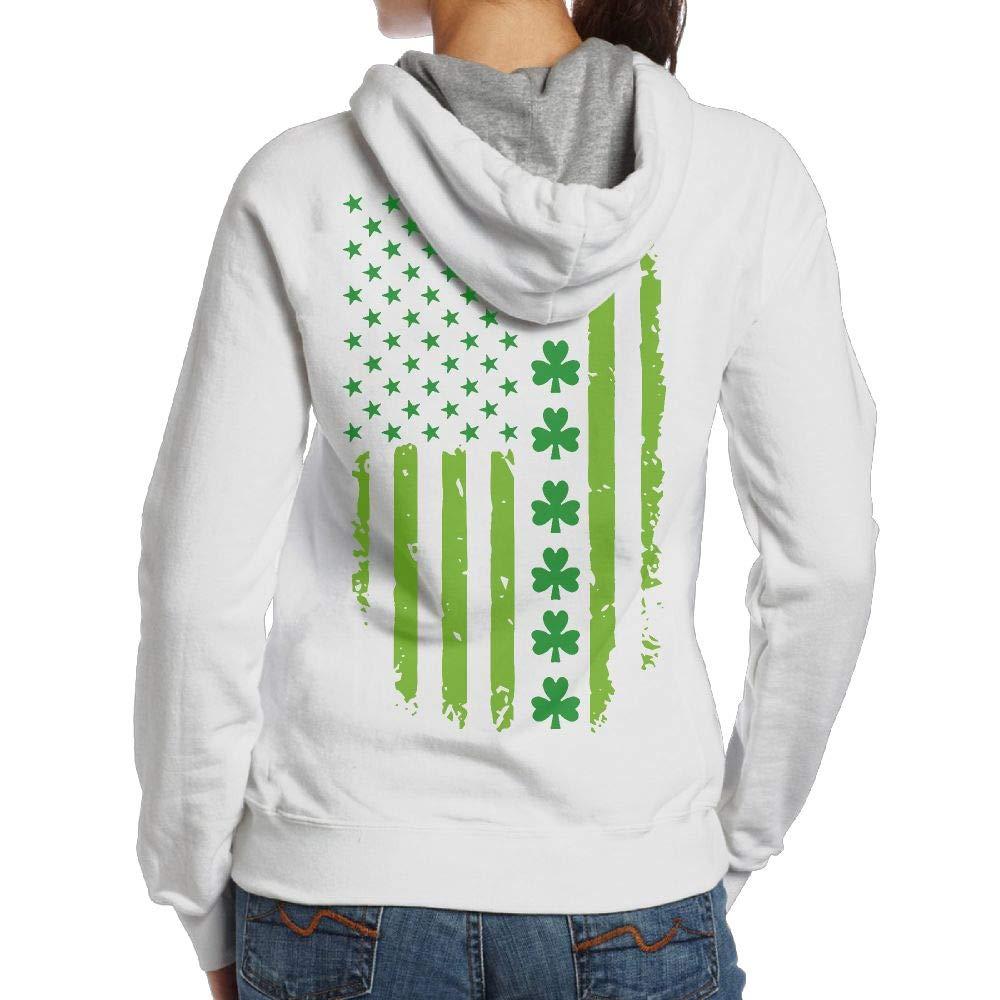 Wwtbbj B St Patrick S Day Irish American Flag Adult S Cool Sweater T Shirt