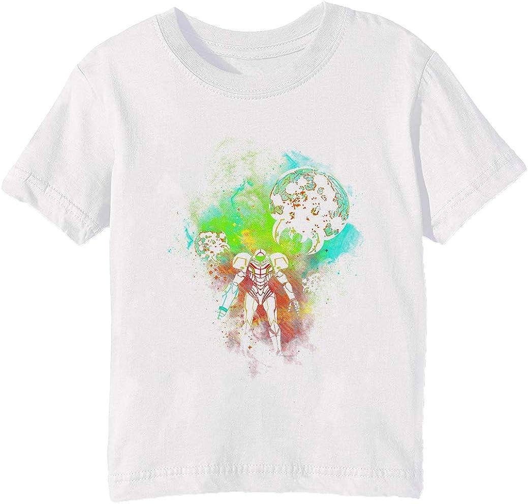 Generosidad Cazador de Espacio Niños Unisexo Niño Niña Camiseta Cuello Redondo Blanco Manga Corta Tamaño 3XS Kids Boys Girls White XXX-Small Size 3XS: Amazon.es: Ropa y accesorios