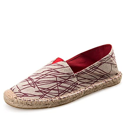 YOPAIYA Zapatos Mens Alpargatas Hombres Patchwork Patinar en Verano Lona Transpirable Hombres Zapatos de Moda Envuelto