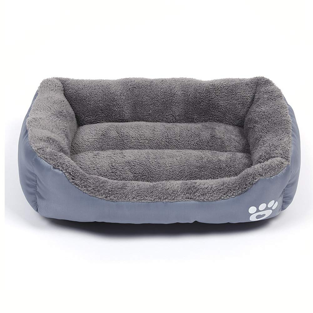 F M F M Pet house Deluxe Soft Washable Basket Bed Cushion with Fleece Lining for Dogs (color   F, Size   M)