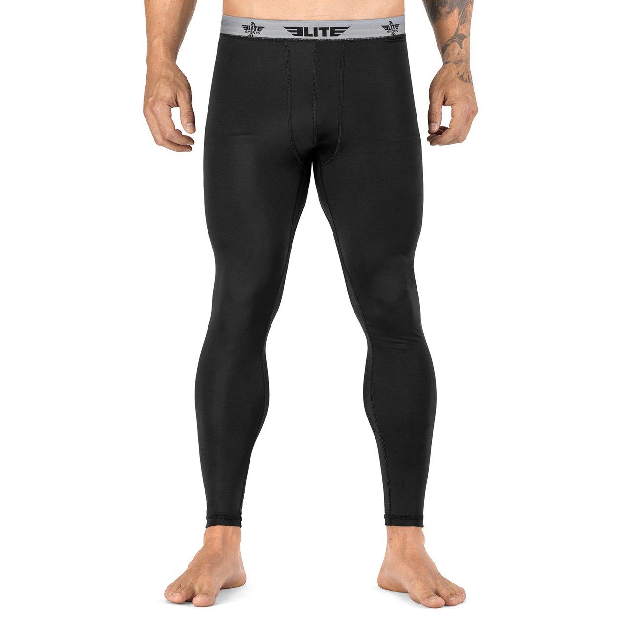 Elite Sports Workout Standard MMA BJJ Spats Base Layer Compression Pants Tights