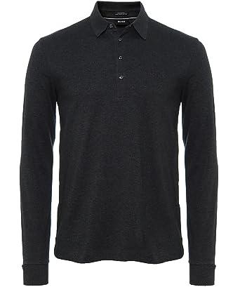 3bfe66b5 Amazon.com: Hugo Boss Black Paderna 30 Long Sleeve Regular Fit Black ...