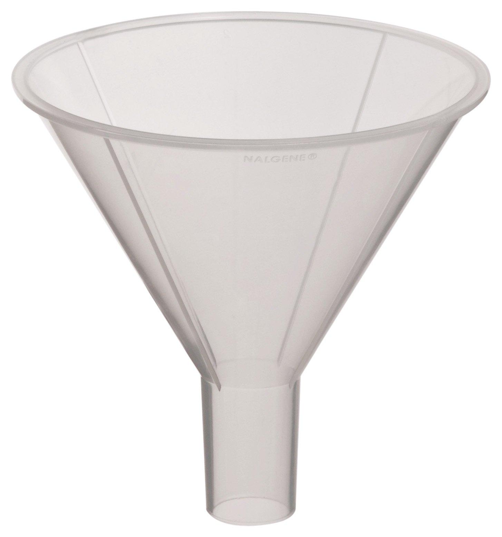Nalgene 4252-0080 Polypropylene Round Powder Funnel, 115mL Capacity, 79mm Top ID (Pack of 12)