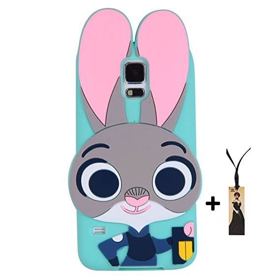 the latest adb4b 90a73 Samsung Galaxy S5 Case Back Cover Soft Silicone Cute Lovely Rabbit Bunny  Design 3D Cartoon Gift for Girls Teens Kids (Samsung Galaxy S5)