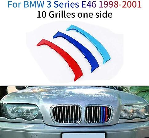 Image ofM-Colore Franjas Decorativas para Parrilla Delantera para 3 Series E46 316 318 320 325 328 330 323 Sedan and Touring 1998-2001 3 Piezas (10 Varillas)