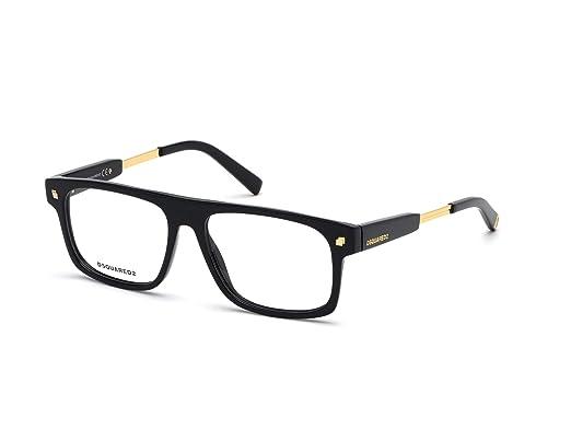 nouvelle arrivee bdce9 8b02a Dsquared2 - Montures de lunettes - Homme Noir Noir Medium ...