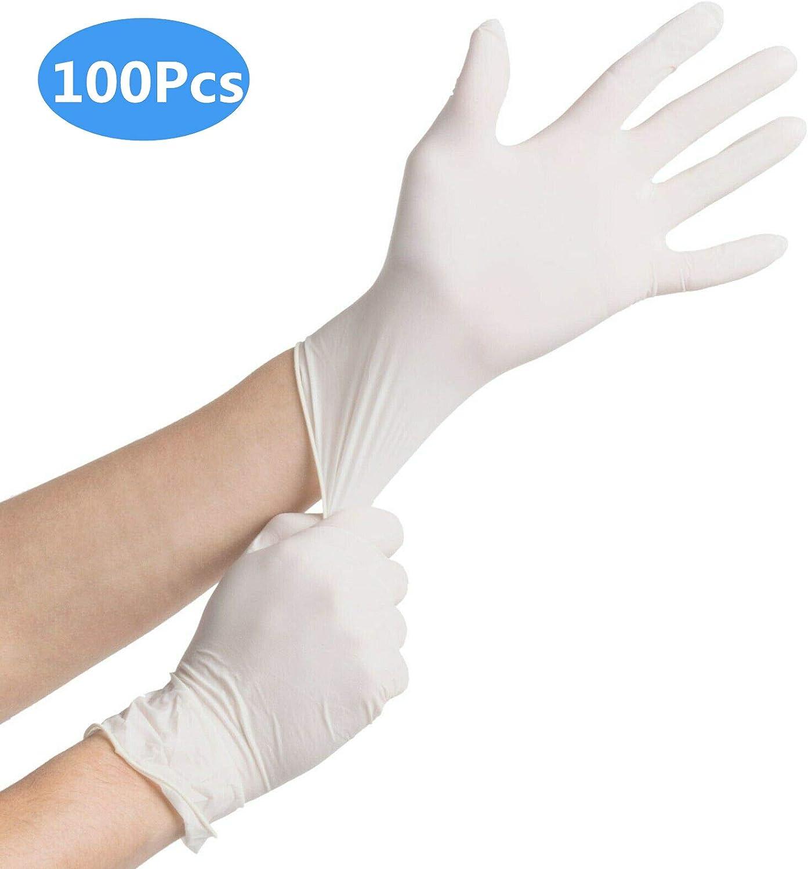m/écanique Nettoyage ou Domestique 100Pcs Gants jetables en Nitrile Fournitures de Tatouage Outils Gants Blancs S Automobile sans Poudre
