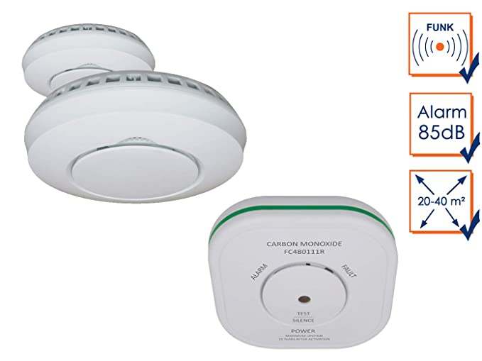 Elro Kit de Seguridad: 2 x Detector de Humo + Detector de monóxido de Carbono para Smart Home Connects Sistema: Amazon.es: Bricolaje y herramientas