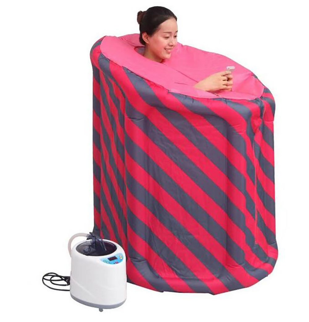 D&F Inflatable Portable Steam Sauna Weight Loss Improve Sleep Quality,Personal Spa Body Heater Detoxify Losing Weight Mobile Home Room Household Sauna Box Steam Fumigation Machine