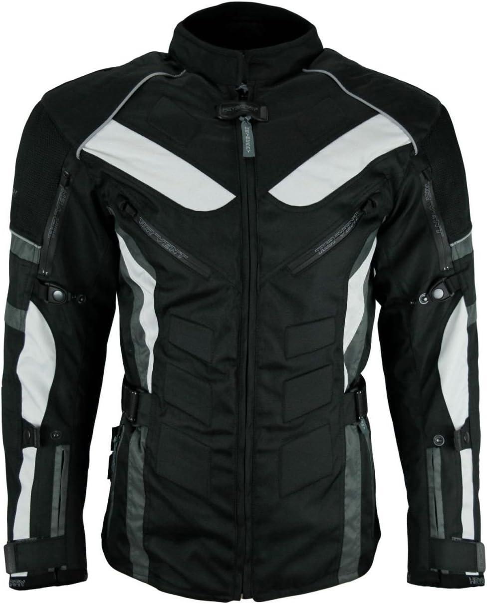 HEYBERRY Touren Motorrad Jacke Motorradjacke Textil schwarz rot Gr.3XL