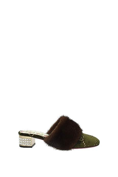 Zapatillas y Zuecos Gucci Mujer - Velvet (502871EYR10) EU: Amazon.es: Zapatos y complementos
