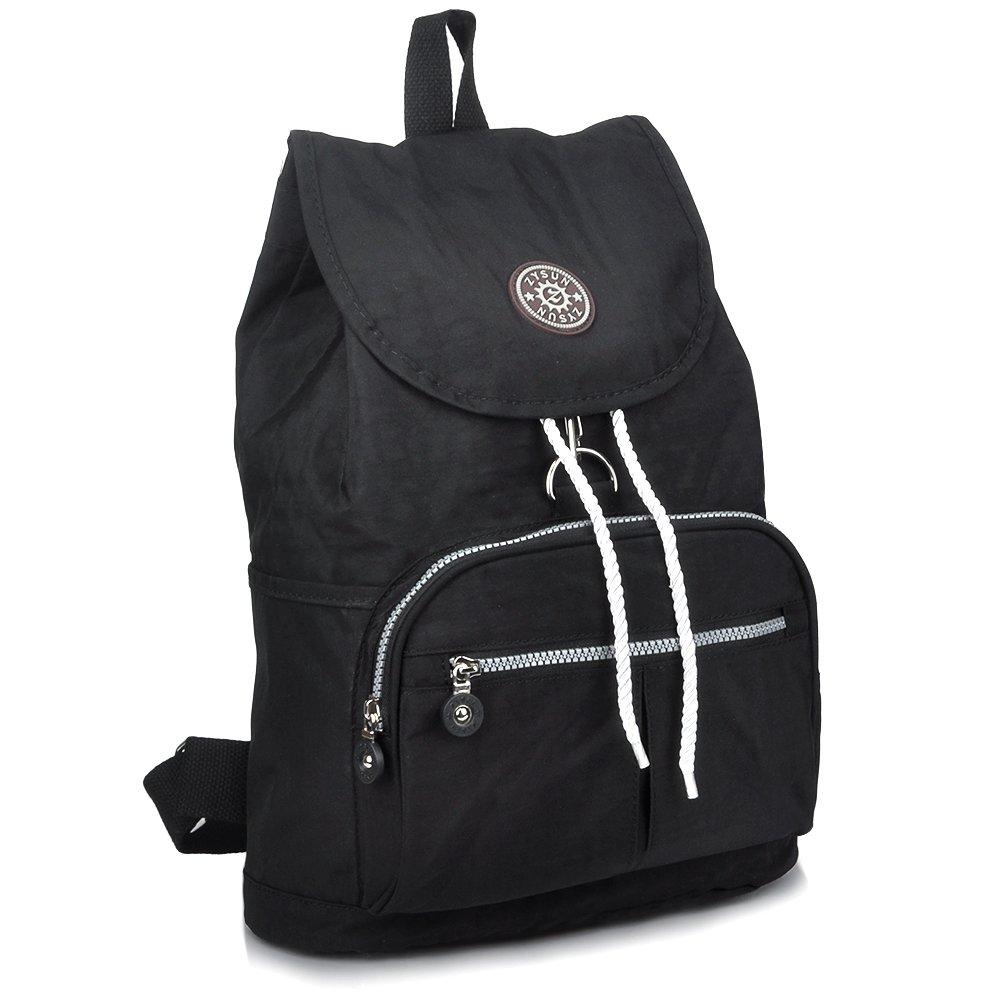 ZYSUN Fashion Travel High School Backpacks Lightweight Bag for College Girls Womens (Black)