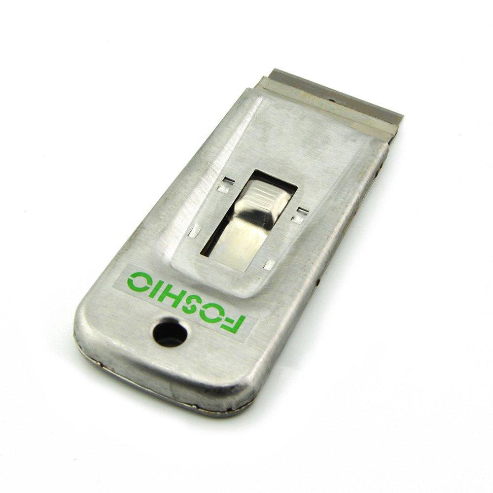 FOSHIO Raspador retráctil de la hoja de la maquinilla de afeitar del acero inoxidable de para la separación adhesiva de cristal con 10PCS 1.5