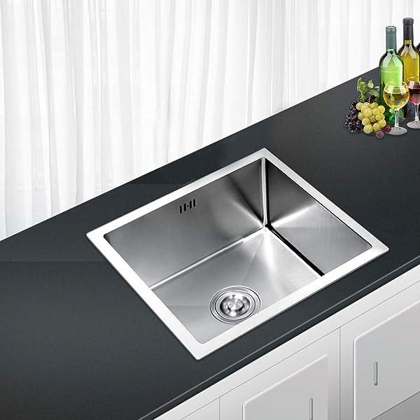 AuraLum Fregadero de cocina 50 × 43 × 21 cm, fregadero de ...